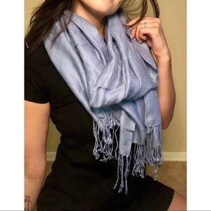 Light blue scarf w/ tassels